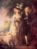 Mr. and Mrs. William Hallett (The Morning Walk) painting reproduction, Thomas Gainsborough