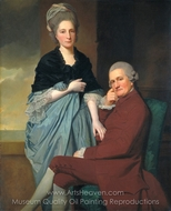 Mr. and Mrs. William Lindow painting reproduction, George Romney