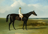 Mr. O'Brien's Dark Bay Racehorse Jonathan Wild with Jockey T. Ryder Up painting reproduction, John Frederick Herring Sr.
