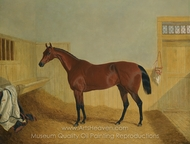 Mr. William Orde's Bay Filly Beeswing in a Stable painting reproduction, John Frederick Herring Sr.