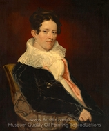 Mrs. Addin Lewis (Fanny Lewis) painting reproduction, Samuel F. B. Morse