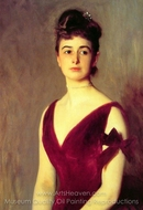 Mrs. Charles E. Inches painting reproduction, John Singer Sargent
