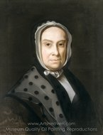 Mrs. Ebenezer Storer (Mary Edwards) painting reproduction, John Singleton Copley