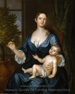 Mrs. Francis Brinley and Her Son Francis painting reproduction, John Smibert