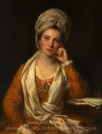 Mrs. Horton, Later Viscountess Maynard painting reproduction, Sir Joshua Reynolds