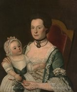 Mrs. Jacob Hurd and Child painting reproduction, John Singleton Copley