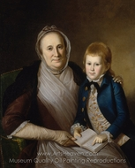 Mrs. James Smith and Grandson painting reproduction, Charles Willson Peale
