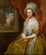 Mrs. John Davenport painting reproduction, Ralph Earl