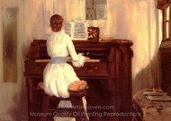 Mrs. Meigs at the Piano painting reproduction, William Merritt Chase