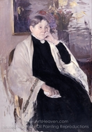 Mrs. Robert S. Cassatt, the Artist's Mother painting reproduction, Mary Cassatt