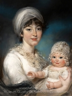 Mrs. Robert Shurlock (Henrietta Ann Jane Russell) and Her Daughter Ann painting reproduction, John Russell