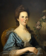 Mrs. Thomas Russell painting reproduction, Charles Willson Peale