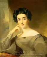 Mrs. William Griffin painting reproduction, Thomas Sully