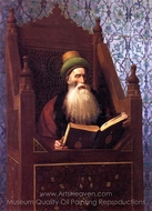 Mufti Reading in His Prayer Stool painting reproduction, Jean-Leon Gerome