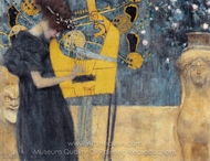 Music I painting reproduction, Gustav Klimt