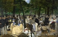 Music in the Tuileries Gardens painting reproduction, �douard Manet