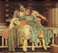 Music Lesson painting reproduction, Lord Frederic Leighton