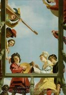 Musical Group on a Balcony painting reproduction, Gerrit Van Honthorst
