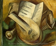 Musical Instruments painting reproduction, Georges Braque