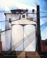 My Egypt painting reproduction, Charles Demuth