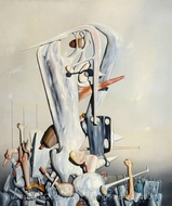 My Life, White and Black painting reproduction, Yves Tanguy