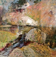 My Summer Studio painting reproduction, John Henri Twachtman