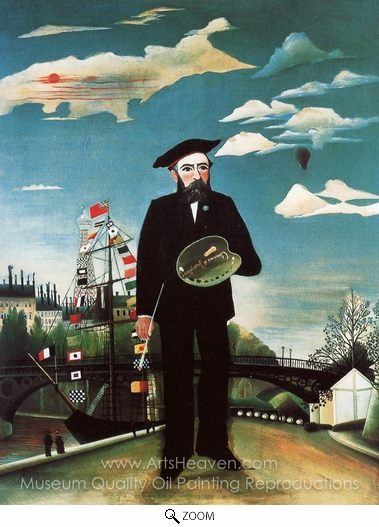 Henri Rousseau, Myself, Landscape Portrait oil painting reproduction