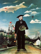 Myself, Landscape Portrait painting reproduction, Henri Rousseau