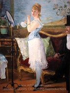 Nana painting reproduction, �douard Manet