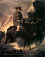 Napoleon Crossing the Alps painting reproduction, Paul Delaroche
