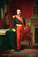 Napoleon III in Uniform of Major General painting reproduction, Hippolyte Flandrin