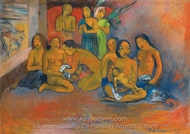 Nativite painting reproduction, Paul Gauguin