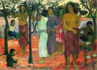 Nave Nave Mahana (Delightful Day) painting reproduction, Paul Gauguin