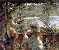 Near the Lake painting reproduction, Pierre-Auguste Renoir