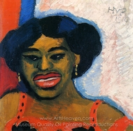 Nelly painting reproduction, Max Pechstein