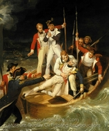 Nelson Wounded at Tenerife, 24 July 1797 painting reproduction, Richard Westall Nelson