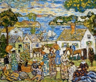 New England Harbor painting reproduction, Maurice Prendergast