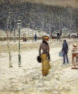 New York Street painting reproduction, Childe Hassam