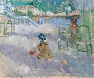 Nice Beach painting reproduction, Berthe Morisot