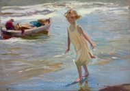 Nina en la Playa, Valencia painting reproduction, Joaquin Sorolla