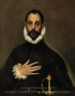 Nobleman with His Hand on His Chest painting reproduction, El Greco