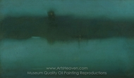Nocturne painting reproduction, James McNeill Whistler