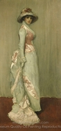 Nocturne in Rosa und Grau painting reproduction, James McNeill Whistler