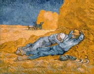 Noon: Rest from Work (The Siesta) painting reproduction, Vincent Van Gogh
