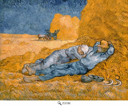 Vincent Van Gogh, Noon: Rest from Work (The Siesta) oil painting reproduction