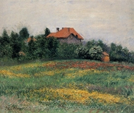Norman Landscape painting reproduction, Gustave Caillebotte
