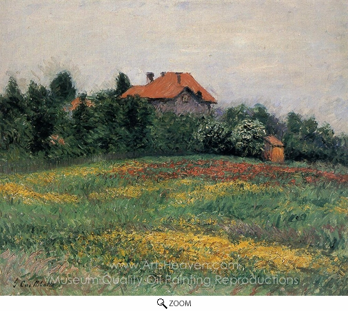 Gustave Caillebotte, Norman Landscape oil painting reproduction