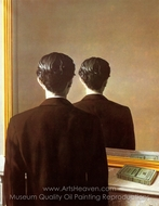 Not to be Reproduced painting reproduction, Rene Magritte (inspired by)