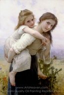 Not too Much to Carry (Fardeau Agreable) painting reproduction, William A. Bouguereau