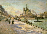 Notre Dame of Paris painting reproduction, Armand Guillaumin